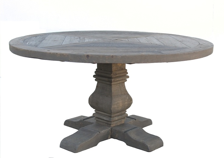 Reclaimed European Round Firwood Table