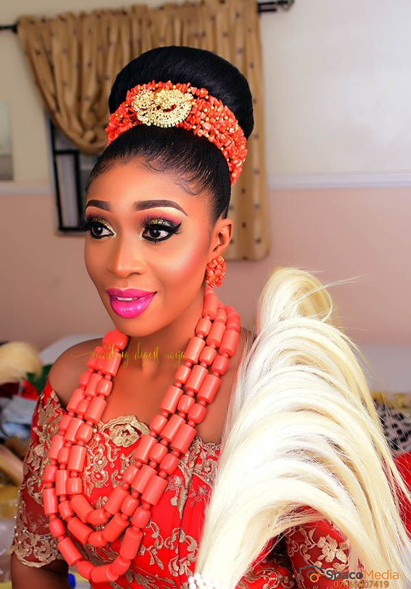 Chioma And Obiora S Igbo Traditional Wedding Is Filled With All Things Beautiful Th Igbo Traditional Wedding Traditional Hairstyle Traditional Wedding Attire