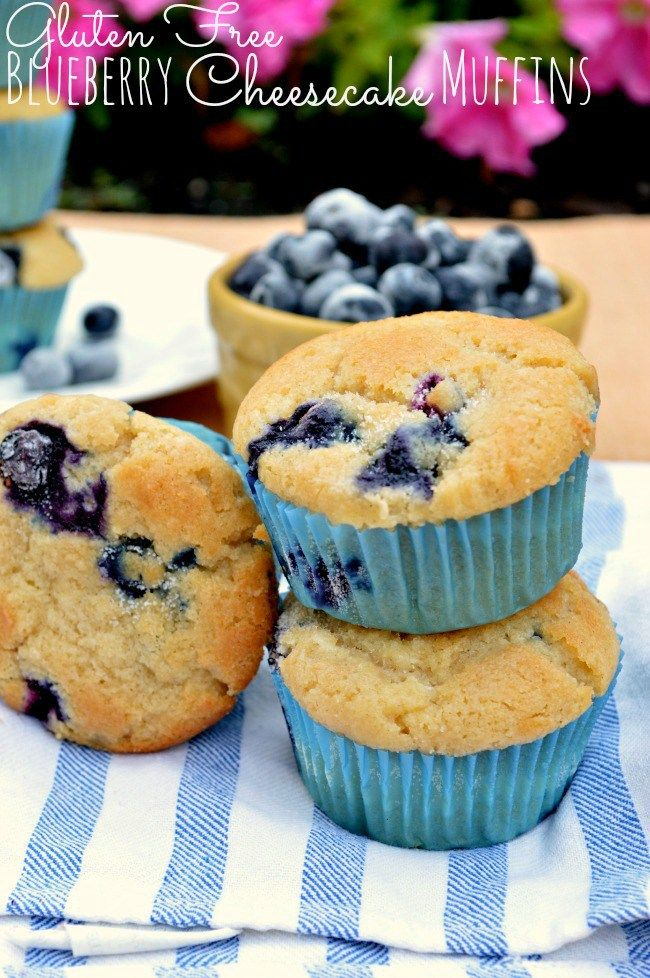 Gluten Free Blueberry Cheesecake Muffins - sooo good! Made without cream cheese filling and used frozen Saskatoons. Made 24
