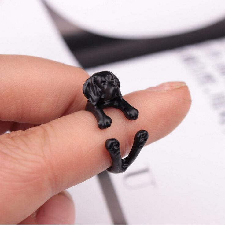 Kittenup 3 color Cute Animal Dog Labrador  Open-end Rings For Men Women Fashion Jewelry Gifts