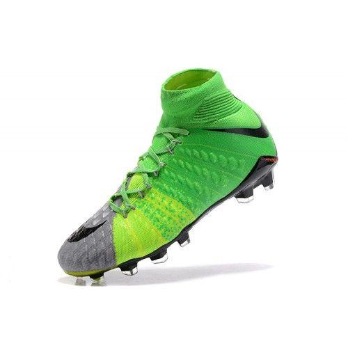 Nike Hypervenom - футбольныебутсы 2017 Nike Hypervenom Phantom III DF FG зеленый серый дешево