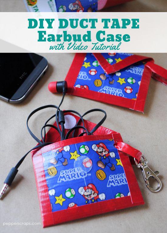 164 best geek crafts for nerds images on pinterest geek easy diy duct tape earbud case solutioingenieria Gallery