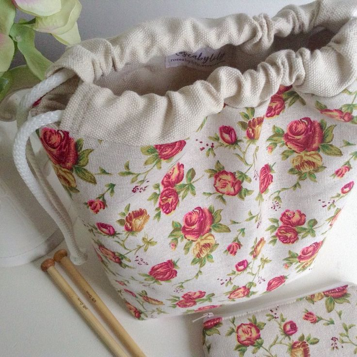 Knitting Project Bag with Matching Notions Pouch now listed