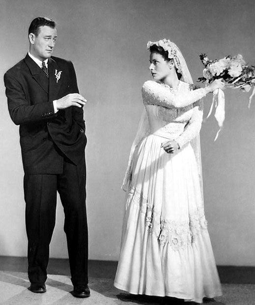 "John Wayne and Maureen O'Hara in ""The Quiet Man"", 1952."