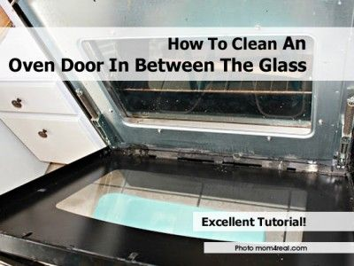 how to clean oven glass naturally
