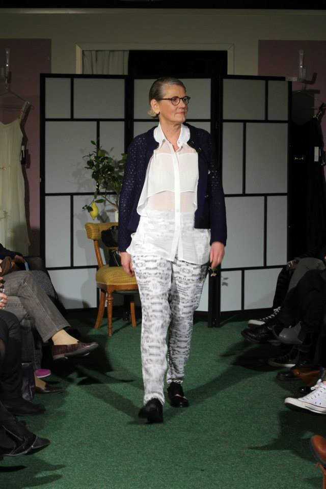 SS14 FASHION SHOW Rodebjer shirt and House of Dagmar pants and cardigan