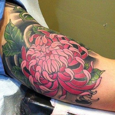 Chrysanthemum Tattoo By Mattbeckerich At Kingsavetattoo  picture