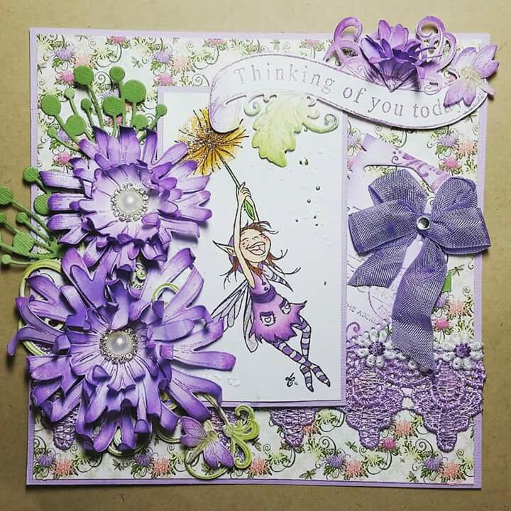 """Emerald faeries """"Isla"""" and Heartfelt Creations stamos, dies and papers"""