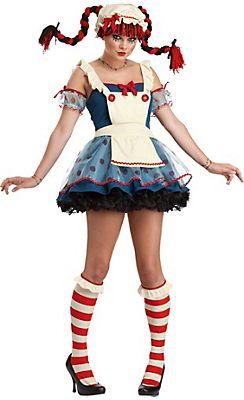 Teen Girls Rag Doll Costume