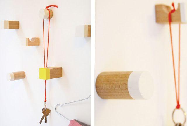 tichtach - en kreativ logbog: DIY: De skønneste knager