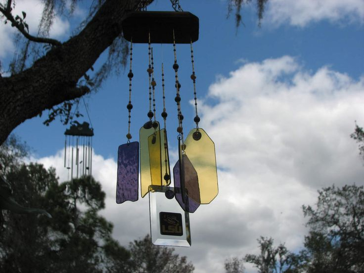 Louisiana State University Stained Glass Wind Chime by TeamGlassCharmChimes on Etsy
