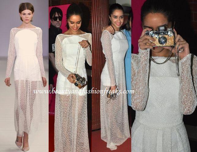 Shraddha Kapoor in Osman Maxi Dress at Kill Dil Premier