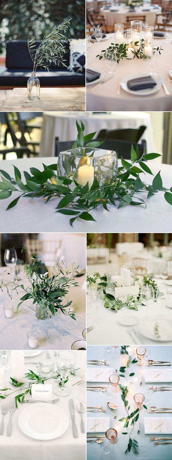 2017 Trends-Easy Diy Organic Minimalist Wedding Ideas. Green Wedding  CenterpiecesRound Table ...