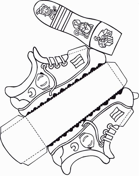 papieren schoentje zetten knutselen sinterklaas