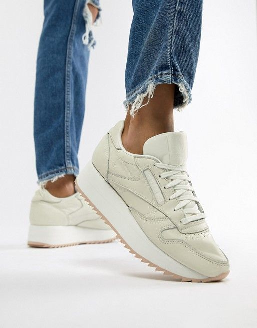 9f80154165d Reebok Classic Leather Double Sneakers in 2019