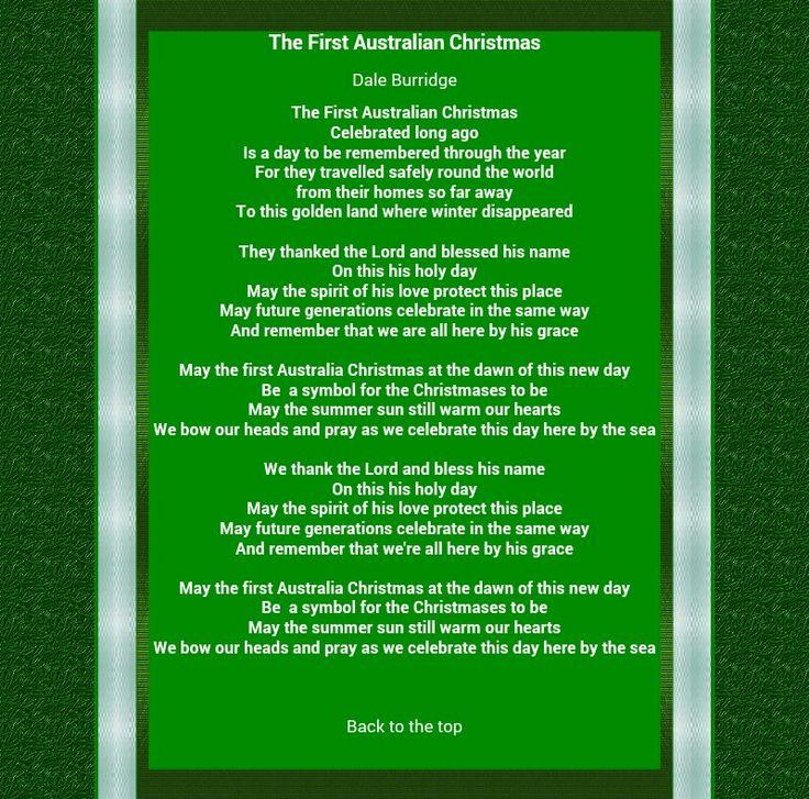 Song Xmas Lyrics Australian christmas, Christmas spirit