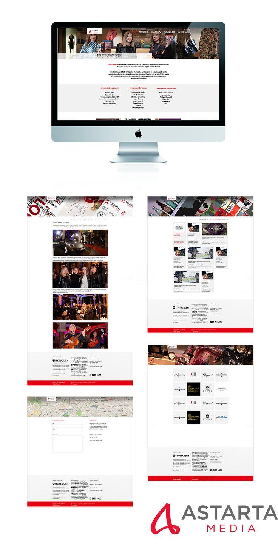 Сайт рекламного агентства «AstartaMedia» - Разработка дизайна сайта для рекламной компании в Испании «AstartaMedia»