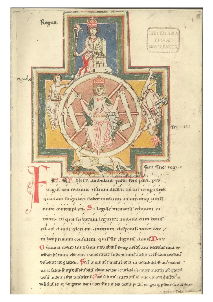 """Codex buranus in Carmina Burana. The """"Wheel of Fortune"""" imagery is used throughout Carmina Burana -- performed May 19 and 20."""