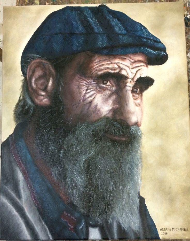 Old man - oil on canvas - Andrea Meyerholz