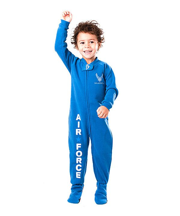 Take a look at this Blue 'U.S. Air Force' Footie - Toddler on zulily today!