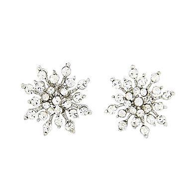 Fiocchi di neve orecchini a forma di con zircone Mounted – EUR € 3.95