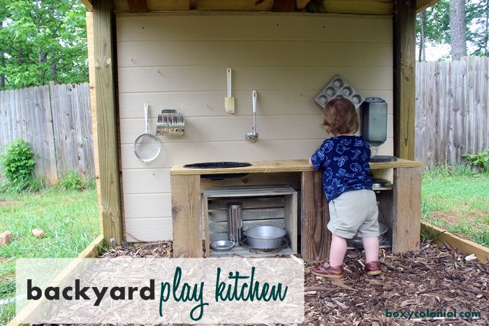 """Love this """"designated"""" play area!   Pin is for a Backyard play kitchen"""