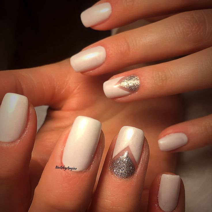White gel color with simple nail design #NailsbyAngiee - 25+ Trending Simple Gel Nails Ideas On Pinterest Neutral Nails