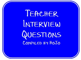 Teacher Interview Questions --- ideas/tips/portfolio help