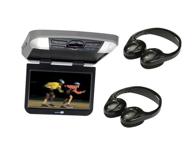Audiovox AVXMTG10U 10-Inch Monitor/dvd Player with 2) Wireless Infrared Headphones (Pair) AVXMTG10U   2 x IR1CFFA,    #Audiovox Drop Down Monitors
