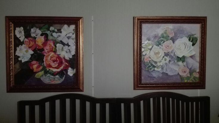 Jemima's art. Oil paintings.