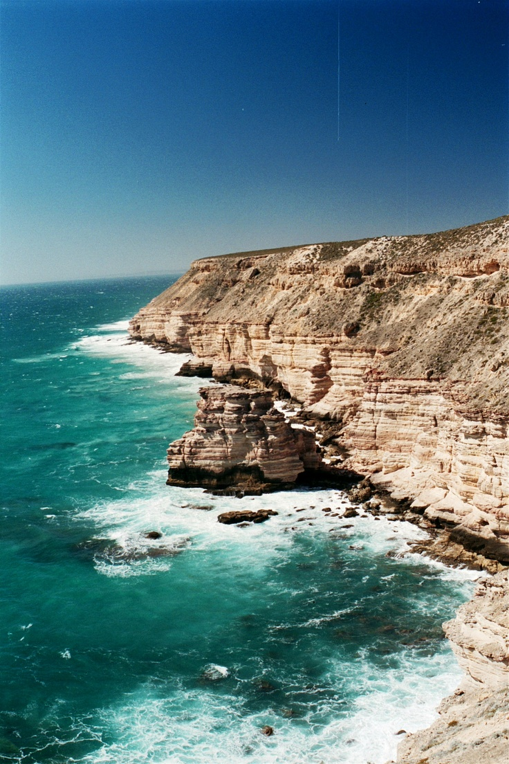 Coastline along from Kalbarri - felt pretty small up there, looking out at miles and miles of dark blue ocean. Breathtaking!