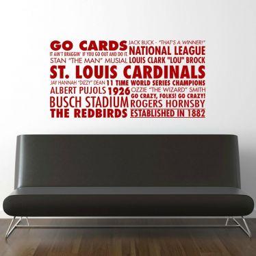 St. Louis Cardinals Baseball Subway Wall Decal