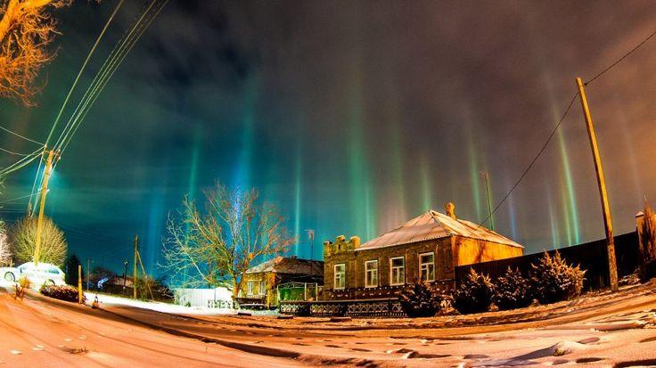 Dieses Foto entstand bereits am 4. Januar in der Nähe von Rostow in Russland.