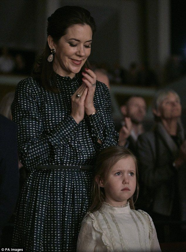 Crown Princess Mary and Crown Prince Frederik have taken their four children for a night out at The Nutcracker ballet in Denmark. But it was young Princess Josephine who was the star of the show,