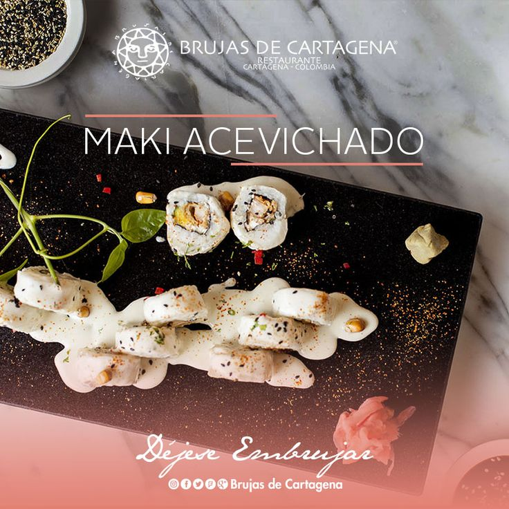 Maki acevichado de Brujas de Cartagena - Nikkei  Cartagena, Colombia