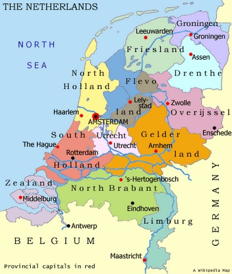 Map of Netherlands.