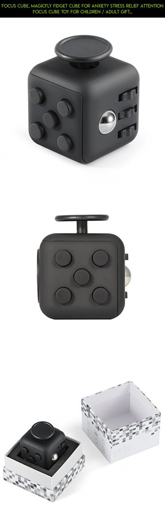 Focus Cube, Magicfly Fidget Cube For Anxiety Stress Relief Attention Focus Cube Toy For Children / Adult Gift ADHD, All Black #products #gadgets #tech #fidget #parts #cube #racing #camera #kit #plans #fpv #drone #technology #joystick #shopping
