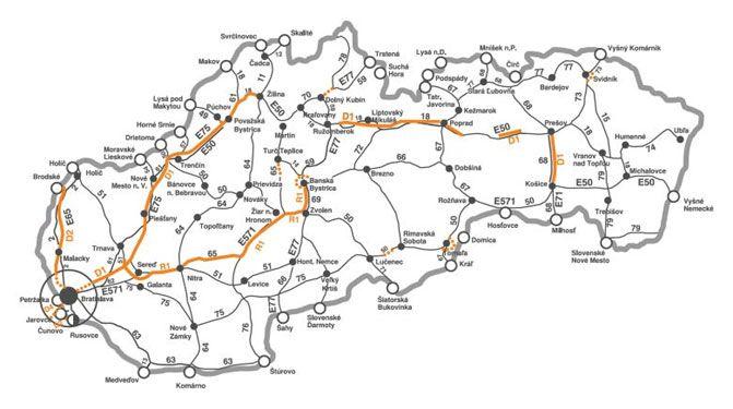 Płatne odcinki dróg w Słowacji