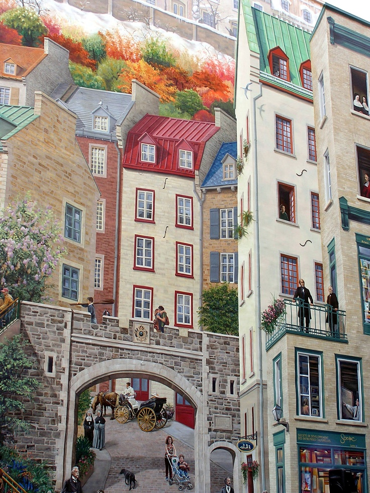 14 best images about old quebec on pinterest canada for Mural quebec city