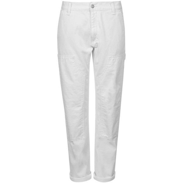 TOPSHOP White Worker Jeans by Carhartt (220 CAD) ❤ liked on Polyvore