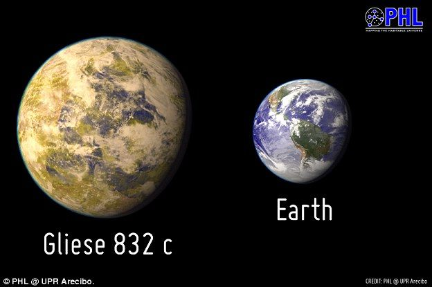 Hawking says Gliese 832c is the closest planet to Earth that could harbor life. He explains it isa 'super-Earth' at least five times as massive as our planet