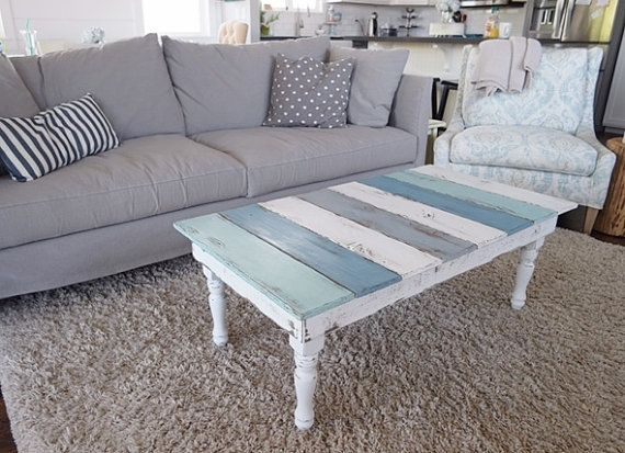 This beachy coffee table was made from beautiful reclaimed Douglas Fir and came from the recently torn down Camino Lumber Mill, near Apple