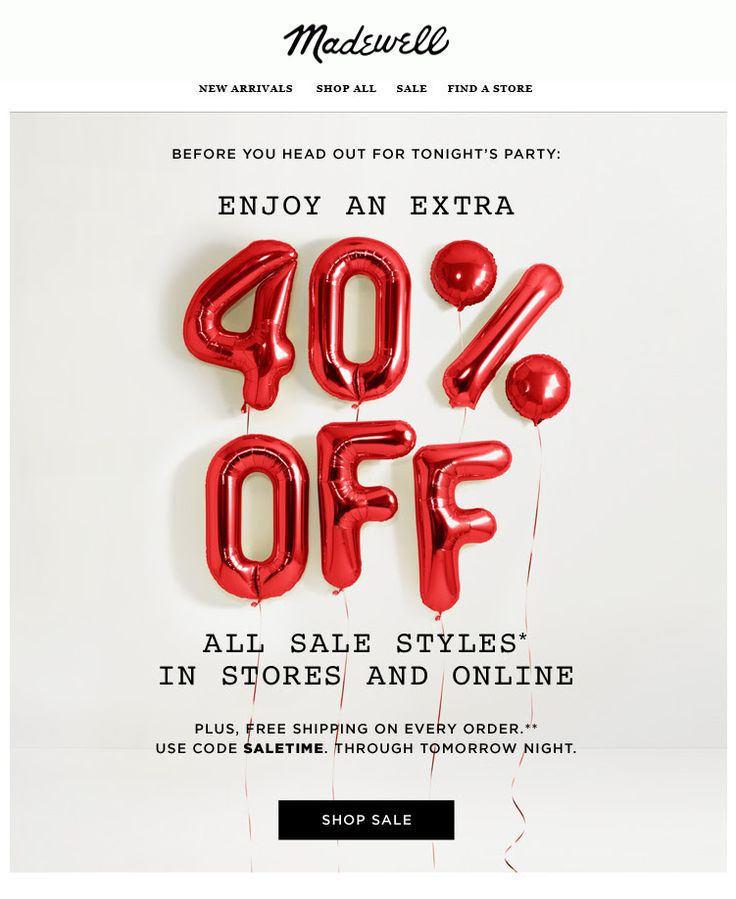 Fun with balloons. Madewell : Typography #design