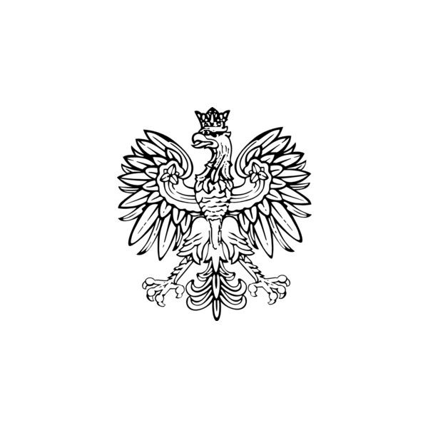 Polish Eagle clip art ❤ liked on Polyvore