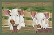 Stained Glass Pattern-Pigs