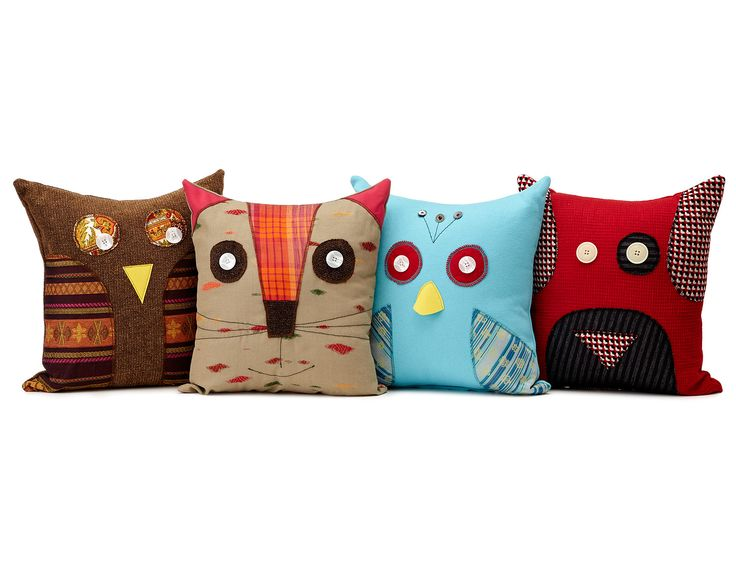 RECYCLED ANIMAL PILLOWS | animal decor, recycled material, cushion | UncommonGoods