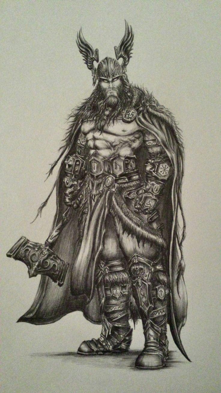 Thor Dios Del Trueno Dibujo Disenado Y Creado Por Mi