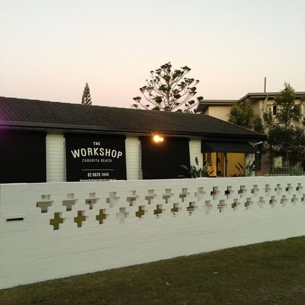 The Workshop at dusk, loving our new look!