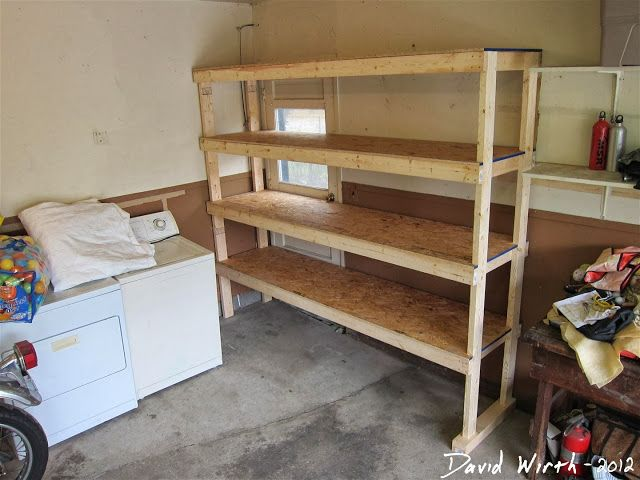 Step by step build plans for a great storage shelfGarages Organic, Garages Shelves, Woodworking Projects, Storage Shelves, Diy Garages, Garages Shelf, House, Cruises Vacations, Wood Garages