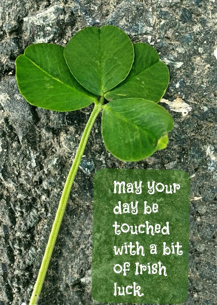 May your day be touched with a bit of Irish luck. See more motivational quotes on Always The Holidays.